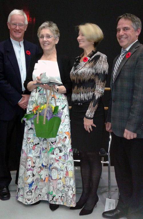 Pictured:  Mayor Richard Walton, District of North Vancouver, Lynn,   Councillor Mary Ann Booth, representing West Vancouver,  Mayor Darryl Mousatto, of the City of North Vancouver.