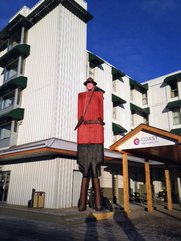 The small-headed Mountie.