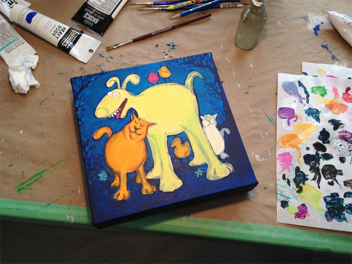 Lynn's Process - painting in the works