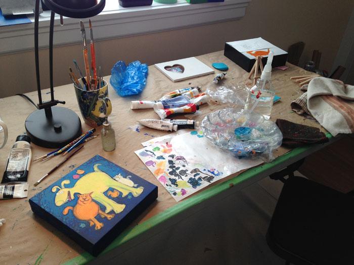 Lynn's workspace
