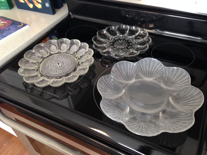 Lynn's Process - deviled egg trays for a palette