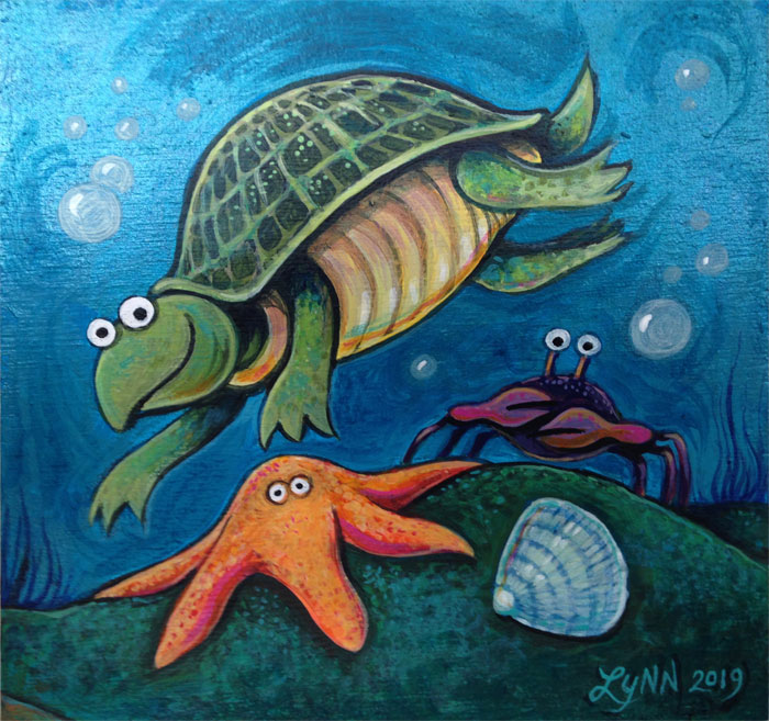 Turtle Starfish and Crab