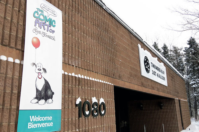 The Banner and Thunder Bay Art Gallery Entrance