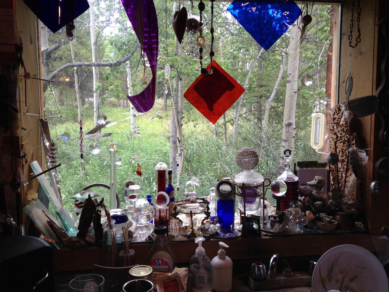 John's wonderful kitchen window.