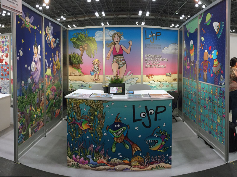 The Lynn Johnston Productions Surtex booth