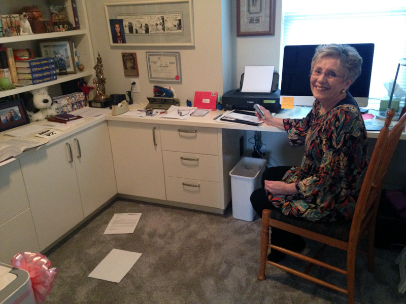 Lynn in her home office.